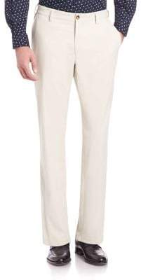 Saks Fifth Avenue COLLECTION Flat-Front Golf Pants