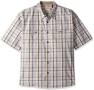 Wrangler Men's Big and Tall Authentics Short Sleeve Canvas Shirt