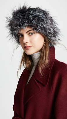 Adrienne Landau Natural Fox Fur Headband