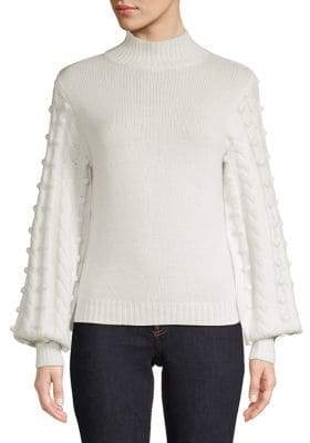Autumn Cashmere Balloon-Sleeve Sweater