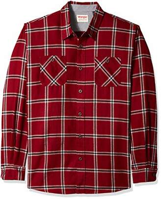 Wrangler Authentics Men's Size Big & Tall Long Sleeve Flannel Shirt