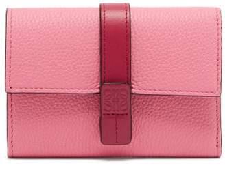Loewe Anagram Grained Leather Wallet - Womens - Pink