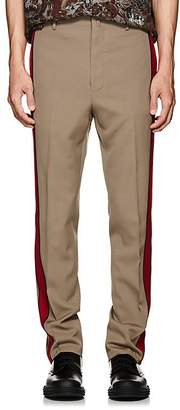 Lanvin Men's Striped Wool Twill Trousers