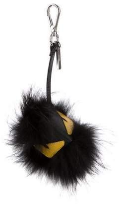 Fendi Bag Bugs Fur Pom-Pom Keychain