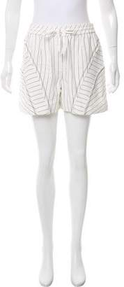 Alexander Wang Striped High-Rise Shorts