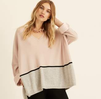 Amanda Wakeley Blush Colour Block Cashmere Boyfriend Jumper