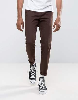 Dickies 872 Work Pant Chino In Slim Fit In Brown