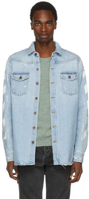 Off-White Off White Blue Temperature Denim Shirt