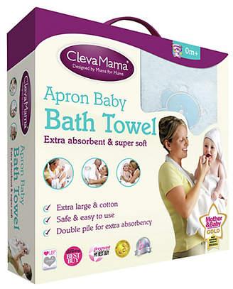 cotton, Blue Splash N' Wrap Clevamama Apron Baby Bath Towel With Hood