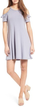 Women's Lush Ruffle Cold Shoulder Dress $45 thestylecure.com