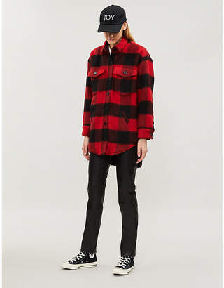 The Kooples Checked wool-blend coat