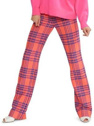 Cynthia Rowley Carson Stretch Plaid Pants
