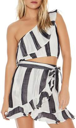 L-Space Alicia One-Shoulder Cover-Up Top