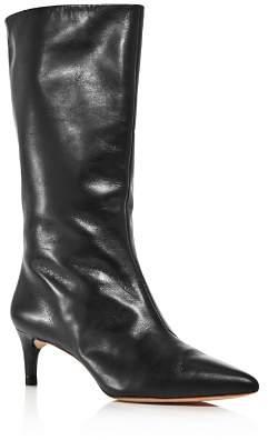 Loeffler Randall Women's Naomi Pointed Toe Kitten Heel Boots