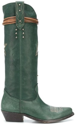 Golden Goose Wish Star embroidered boots