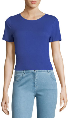 kensie Tieback Short-sleeve Crop Top $35 thestylecure.com