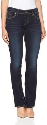 Silver Jeans Juniors Suki Mid Rise Slim Super Stretch Bootcut Jean