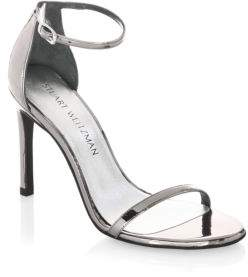 Stuart Weitzman Nudistsong Ankle-Strap Sandals