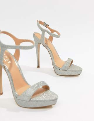 Lipsy glitter platform sandal