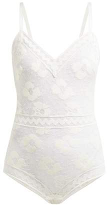 Eres Stretch Lace Cypres Bodysuit - Womens - White