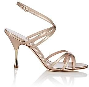 Manolo Blahnik Women's Naropla Metallic Leather Sandals - Gold