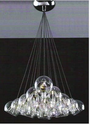 Linea Champagne Fifteen Light Round Plate Pendant