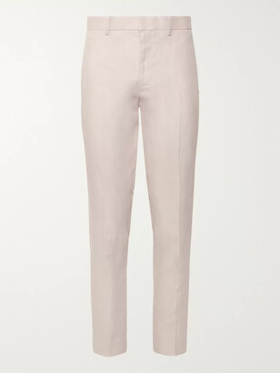 Club Monaco Grant Slim-Fit Linen Trousers - Men - Pink