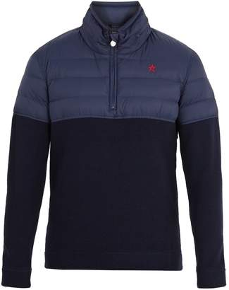 PERFECT MOMENT Apres half-zip nylon and wool sweater