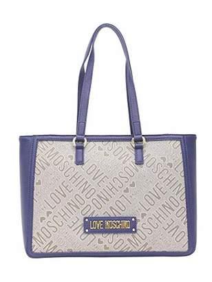 Love Moschino Tess.jacquard Naturale+pu, Women's,15x10x15 cm (W x H L)