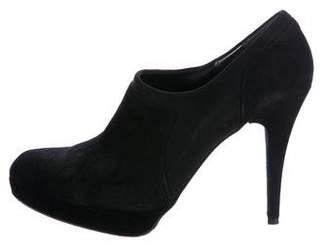 Stuart Weitzman Suede Platform Ankle Boots