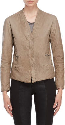 Transit Par Such Textured Leather Jacket