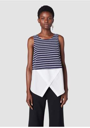 Derek Lam 10 Crosby Sleeveless Faux 2-In-1 Top
