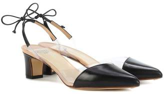 Francesco Russo Leather slingback pumps