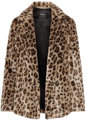 Theory - Clairene Leopard-print Faux Fur Jacket - Leopard print $695 thestylecure.com
