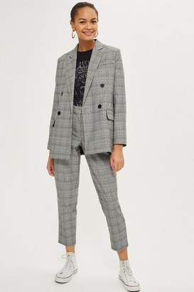 Topshop Checked Tapered Leg Pants