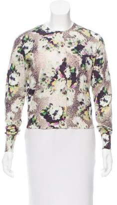 Paul Smith x Black Label Floral Print Button-Up Cardigan
