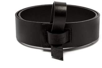 Saint Laurent Strap Fastening Leather Belt - Womens - Black