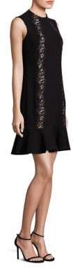 Rebecca Taylor Crepe Lace Applique Dress