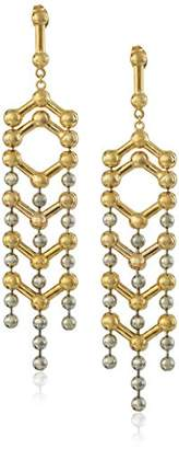 Giles and Brother Apache Two-Tone Drop Earrings $123.50 thestylecure.com