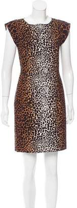 Derek Lam Leopard Printed Mini Dress