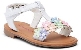Laura Ashley Glitter Floral T-Strap Sandal (Toddler)
