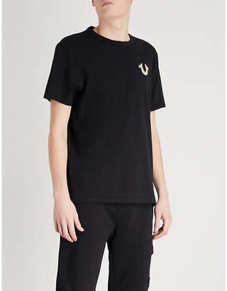 True Religion Rubberised-logo cotton-jersey T-shirt