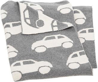One Kings Lane Car Baby Blanket - Gray/White