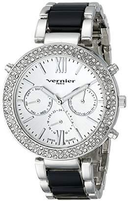 Vernier Paris Women's VNRP11171SS Crystal-Accented Silver-Tone Watch