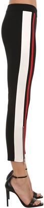 Alexander McQueen ZIP-UP SKINNY STRETCH WOOL PANTS