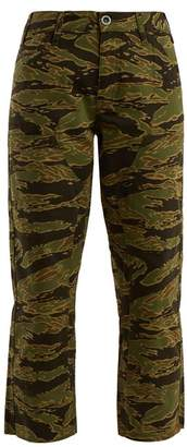 M.i.h Jeans - Phoebe Camouflage Print Cotton Cropped Trousers - Womens - Camouflage