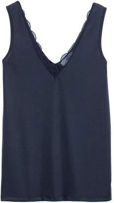 5b3534baeeeb44 La Redoute COLLECTIONS Lacy V-Neck Vest Top