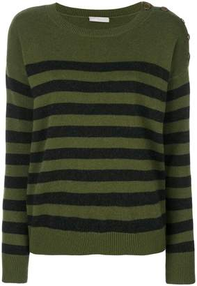 Vince cashmere striped longsleeved top
