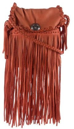 Ralph Lauren Fringe Leather Crossbody Bag