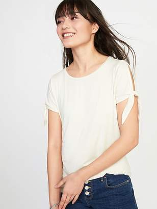 Old Navy Relaxed Tie-Sleeve Jersey Top for Women